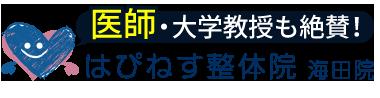 海田の整体なら「はぴねす整体院 海田院」ロゴ
